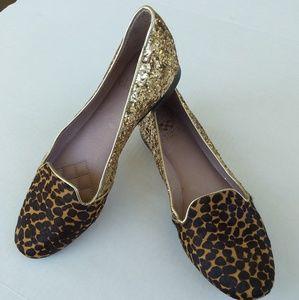 Vince camuto lilliana gold sequin cheetah